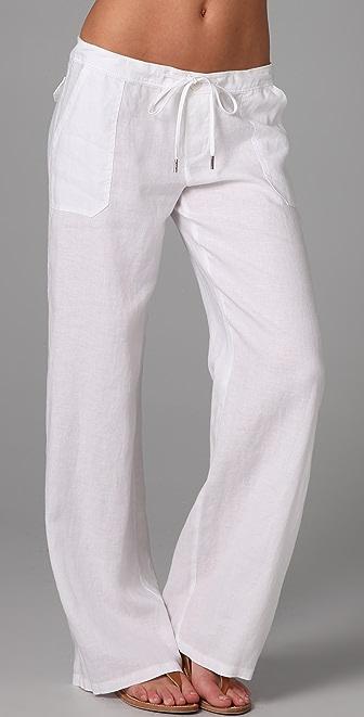 Drawstring Linen Pants Pi Pants