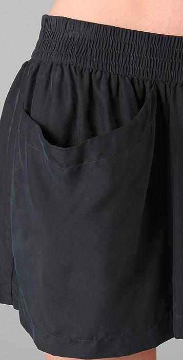 Juicy Couture Washed Silk Skort