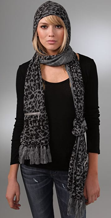 Juicy Couture Hooded Scarf with Pockets