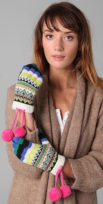 Juicy Couture Bowdoin Fair Isle Short Gloves