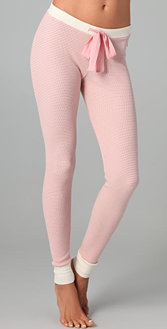Juicy Couture Striped Thermal Leggings