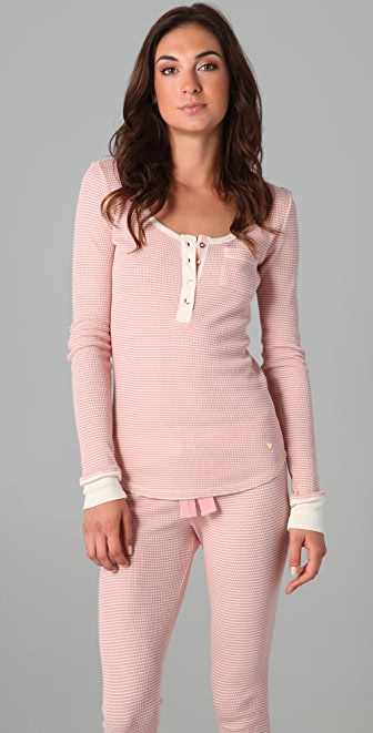 Juicy Couture Striped Thermal Henley