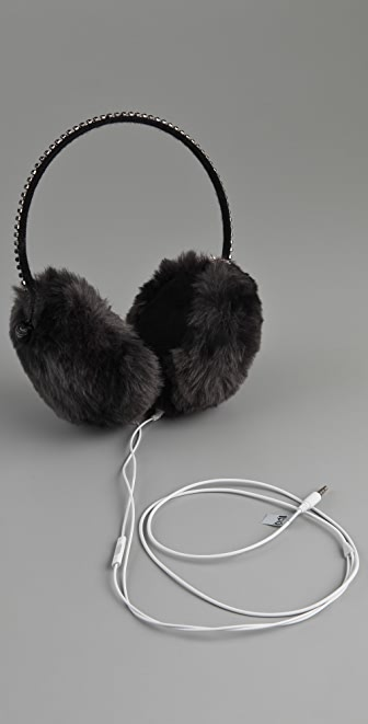 Juicy Couture Faux Fur Earmuff Speaker Headphones