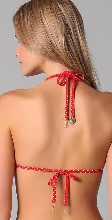 Juicy Couture Pretty Polka Triangle Bikini Top