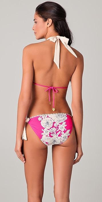 Juicy Couture Tea Rose Triangle Bikini Top