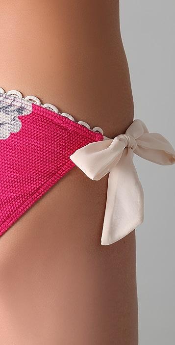 Juicy Couture Tea Rose Side Tie Bikini Bottoms