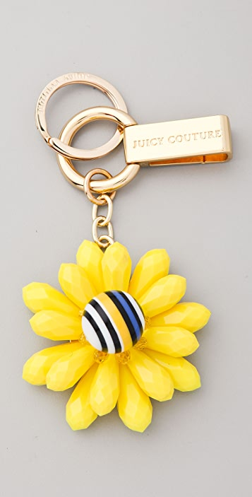 Juicy Couture Resin Flower Key Chain