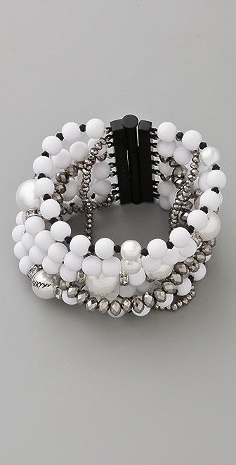 Juicy Couture Pearl & Resin Multi Strand Bracelet
