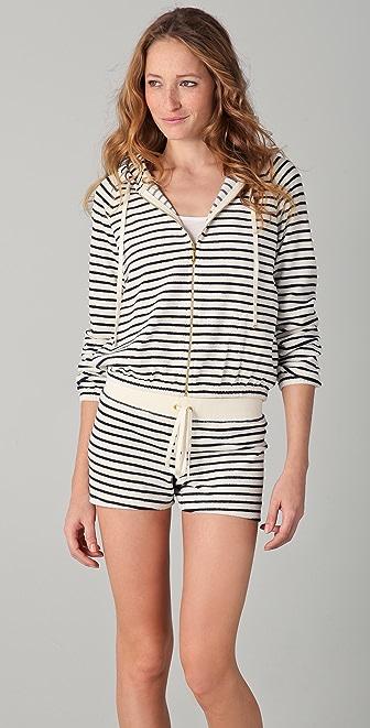 Juicy Couture Sunshine Stripe Terry Zip Hoodie
