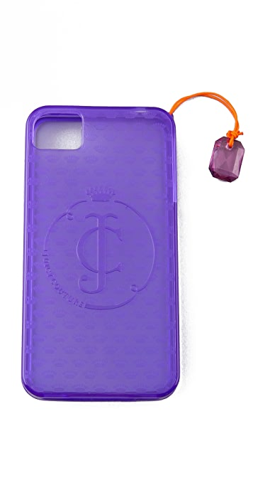 Juicy Couture Gelli iPhone Case with Gemstone Charm