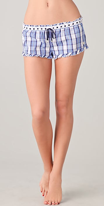 Juicy Couture Flirty Boxers with Eyelet Trim