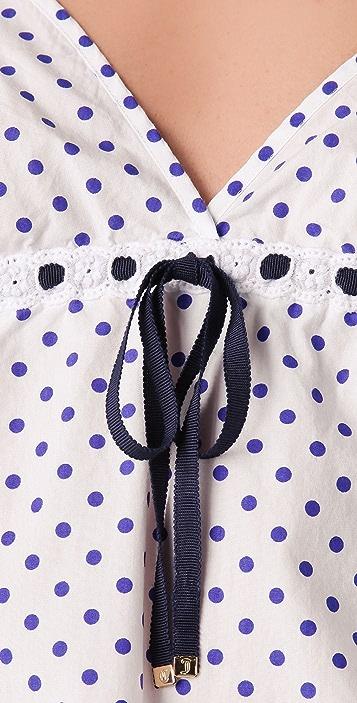 Juicy Couture Polka Dot Nightie with Eyelet Trim