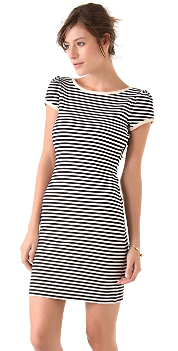 Juicy Couture Puff Sleeve Stripe Dress