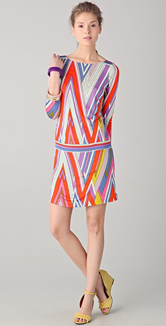 Juicy Couture 3/4 Sleeve Printed Dress