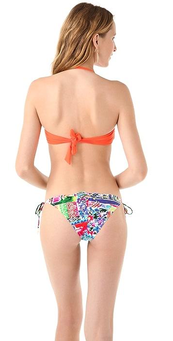Juicy Couture Miss Divine Cinched Bandeau Bikini Top