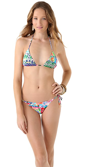 Juicy Couture Destination Ruffle Triangle Bikini Top