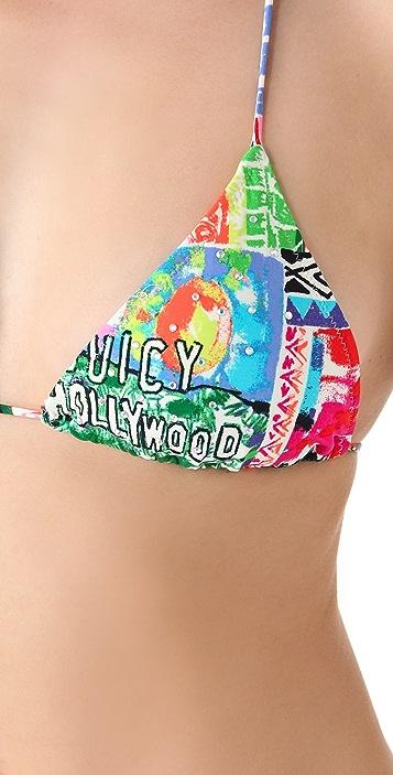 Juicy Couture Destination Ruffle Triangle Bikini Top