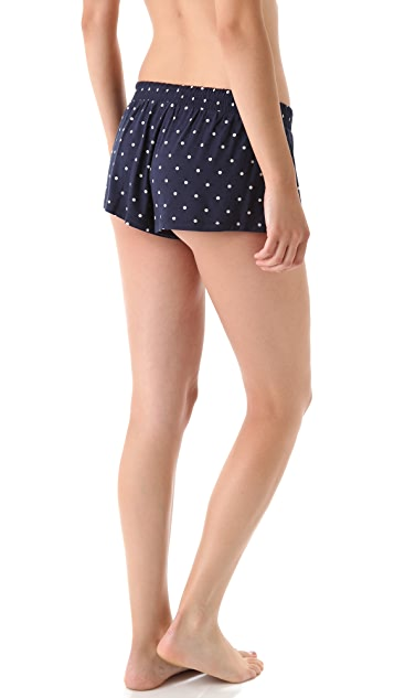 Juicy Couture Drawstring Polka Dot Shorts