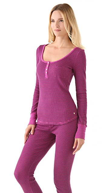 Juicy Couture Thermal Long Sleeve Henley