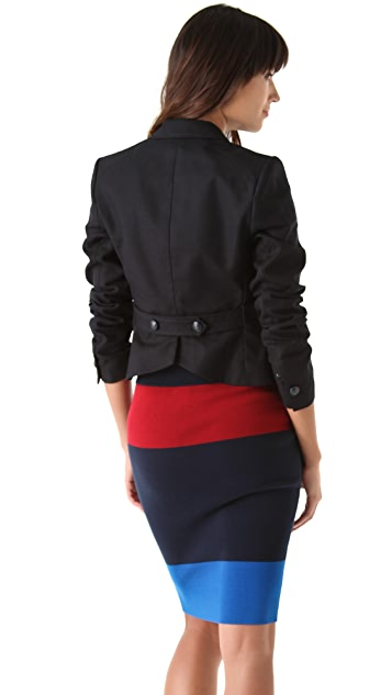 Juicy Couture Cropped Riding Blazer