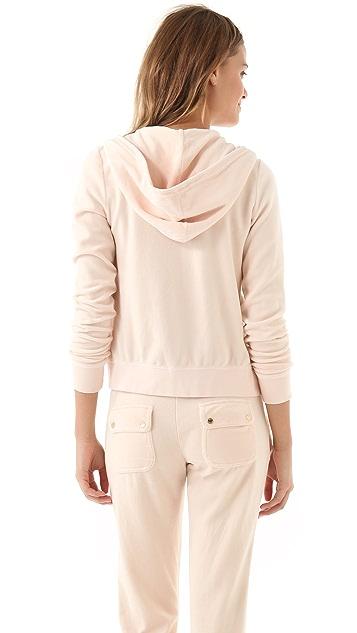Juicy Couture Long Sleeve Original Zip Hoodie