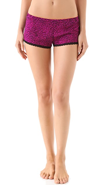 Juicy Couture Leopard Mesh Sleep Shorts