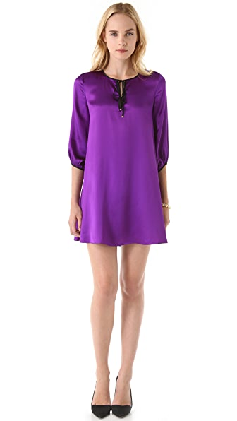 Juicy Couture Silk Keyhole Dress