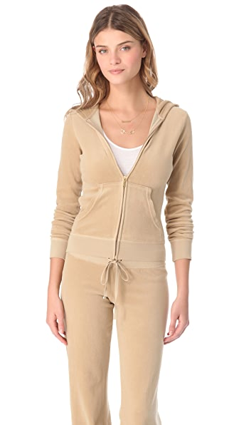 Juicy Couture Original Velour Zip Hoodie