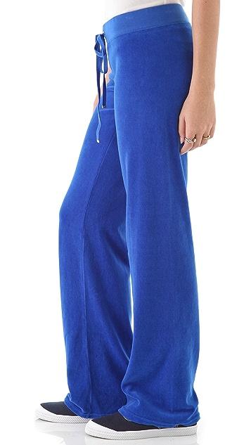 Juicy Couture Original Wide Leg Velour Pants
