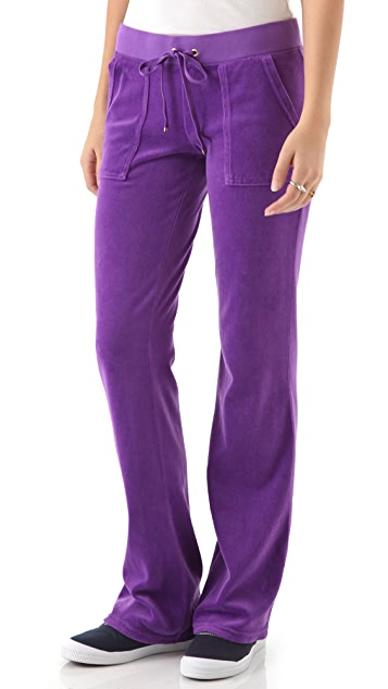 Juicy Couture Velour Snap Pocket Pants