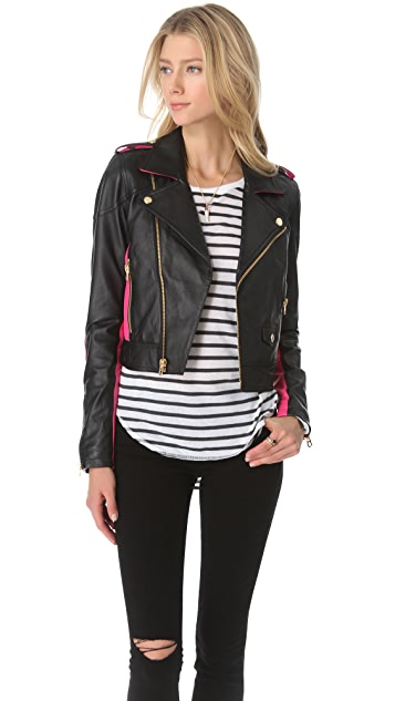 Juicy Couture Leather Moto Jacket