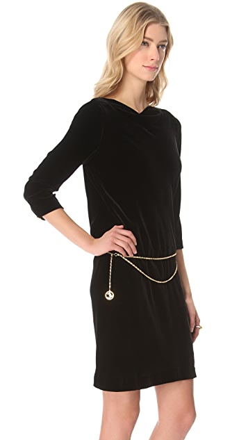 Juicy Couture Velvet Dress with Cowl Back