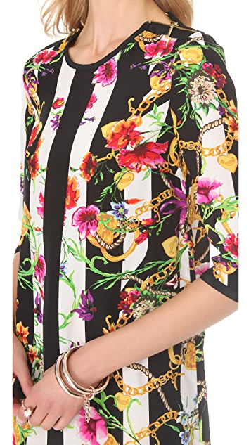 Juicy Couture Floral Stripe Tunic Dress