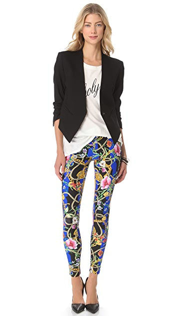 Juicy Couture Floral Stripe Leggings