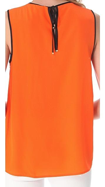 Juicy Couture Contrast Binding Silk Top