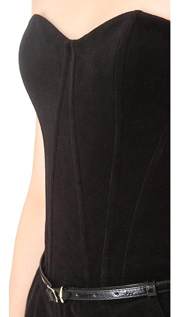 Juicy Couture Bustier Velour Strapless Jumpsuit