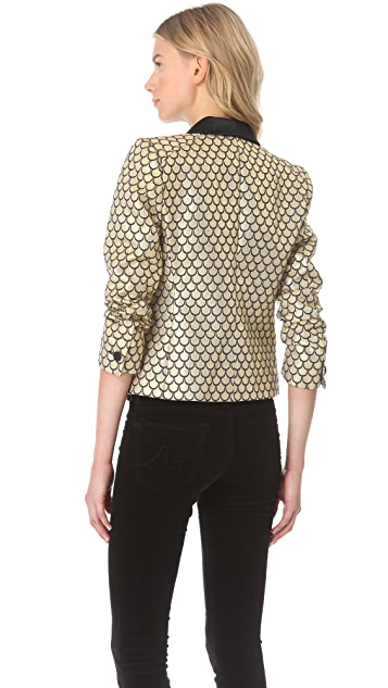 Juicy Couture Palladium Brocade Blazer