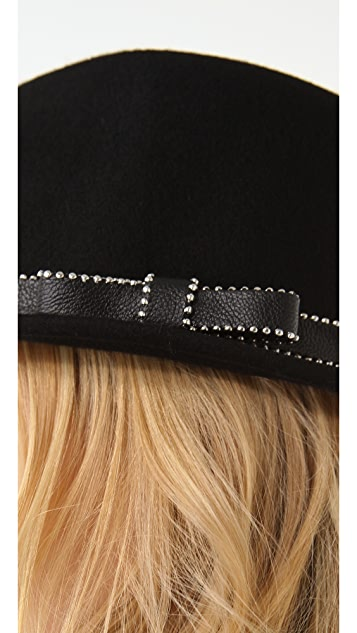 Juicy Couture Short Fedora with Studded Ribbon