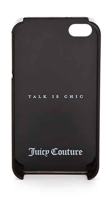 Juicy Couture Talk is Chic Royal Iconic iPhone Case