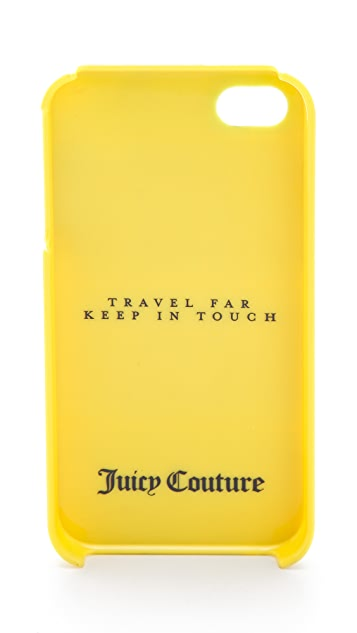 Juicy Couture Travel Far Keep in Touch Plaid iPhone Case