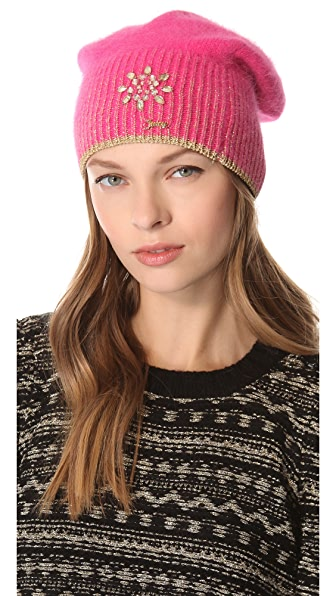 Juicy Couture Metallic Angora Beanie
