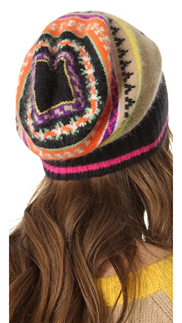 Juicy Couture Angora Fair Isle Hat