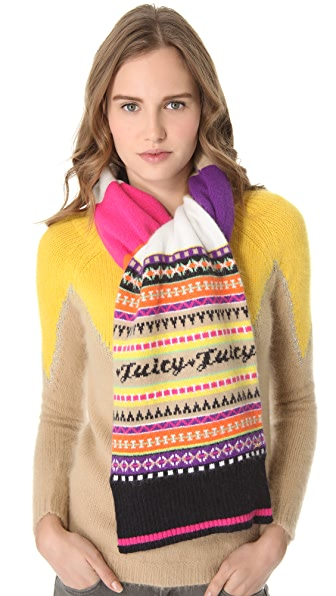Juicy Couture Angora Fair Isle Scarf