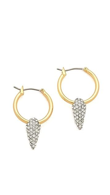 Juicy Couture Pave Spike Hoop Earrings
