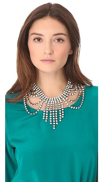 Juicy Couture Rhinestone Fringe Necklace