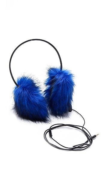Juicy Couture Faux Fur Earmuff Headphones