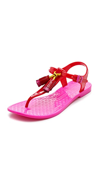 Juicy Couture Jelly Thong Sandals