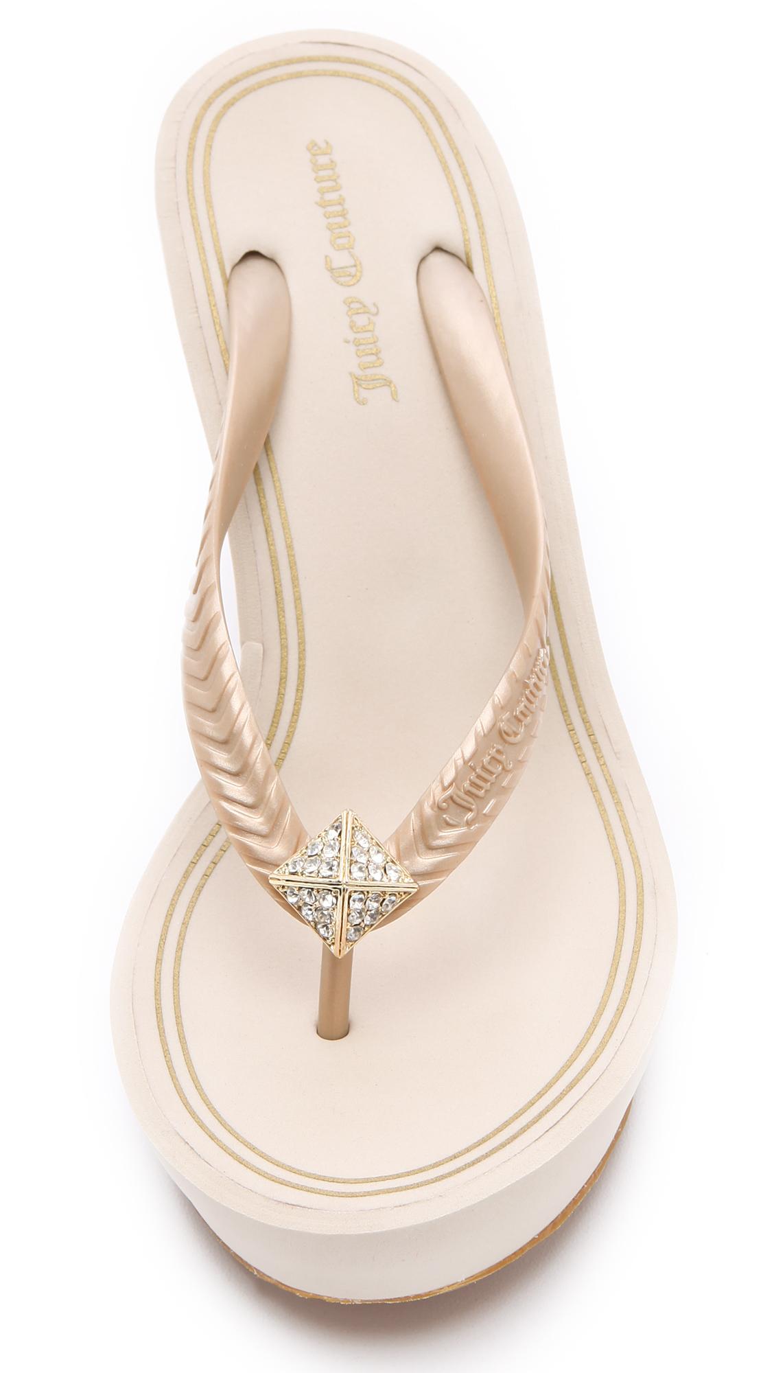 0ae36195c92b Juicy Couture Britt Wedge Flip Flops