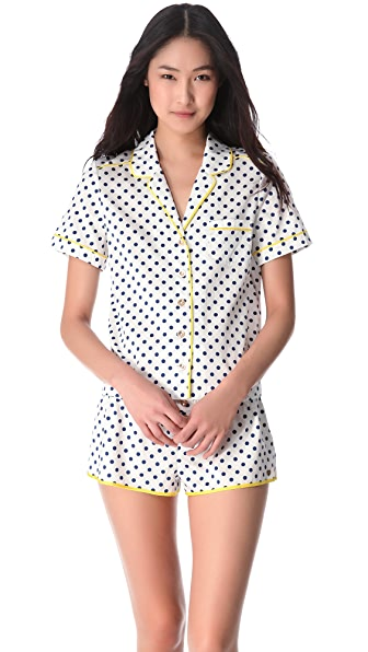 Juicy Couture Josie Dot Sateen PJ Top