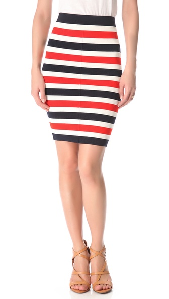 Juicy Couture Atlantic Stripe Milano Skirt